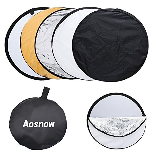 Aosnow 撮影用リフレクター 丸レフ板 折り畳み式反射板...