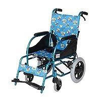 子供用車椅子 - 軽量折りたたみ式手動車椅子折りたたみ式軽量新旧モデルランダム配達 (色 : 青)