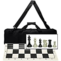 Ultimate Tournament Chess Set with New Silicone Chess Mat, Canvas Bag and Super Triple Weighted Chessmen with 4' King [並行輸入品]
