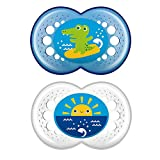 MAM Crystal Orthodontic Pacifier, Boy, 6+ Months, 2-Count