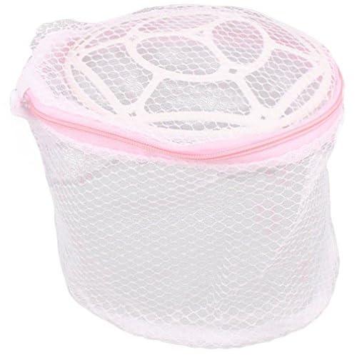 EOZY下着メッシュ入れ 折り畳み メッシュ カゴ 下着用メッシュ入れ ランドリーバッグ ネット カラー:ピンク ランドリー用 抗菌ビーズ 直径19cm*高さ14cm