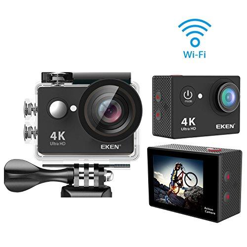 EKEN W9s アクションカメラ 「メーカー直販/1年保証付」ウェアラブルカメラ スポーツカメラ アクションカム WIFI連動 映像再生 140°広角レンズ 防水カメラ コンパクト 完備アクセサリーセット