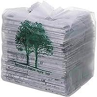 オルディ 新聞 整理袋 取っ手付き 半透明 横30×縦32cm マチ22cm 厚み0.03mm 収納 箱入り 回収袋 ポリ袋  30枚入