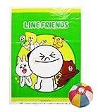 綿菓子袋 LINE(100入) / お楽しみグッズ(紙風船)付きセット [おもちゃ&ホビー]