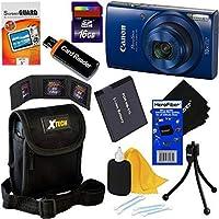 Canon PowerShot ELPH 190IS Wi - Fiデジタルカメラwith 10xズーム& HDビデオ、ブルー(国際バージョン) + NB - 11lバッテリー+ 8pc 16GBアクセサリーキットW/HeroFiber Gentleクリーニングクロス