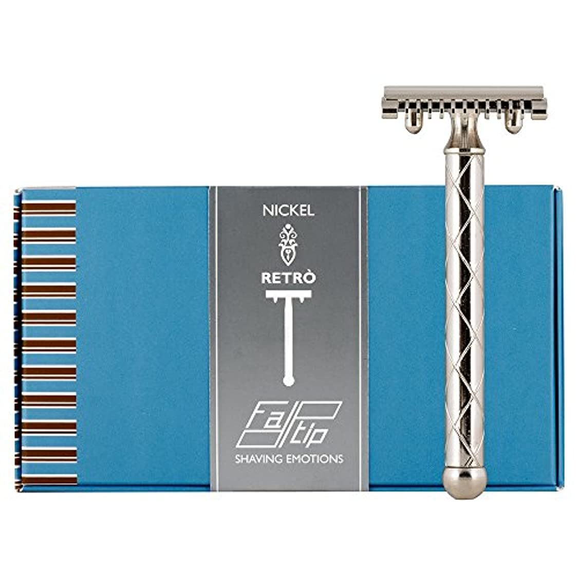 インタラクションカビ密度Fatip Retro Double Edge Safety Razor - Nickel Plated by Fatip