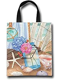 WACRDG Shopping Handle Bags,It's Summer Time Personalized Tote Bag