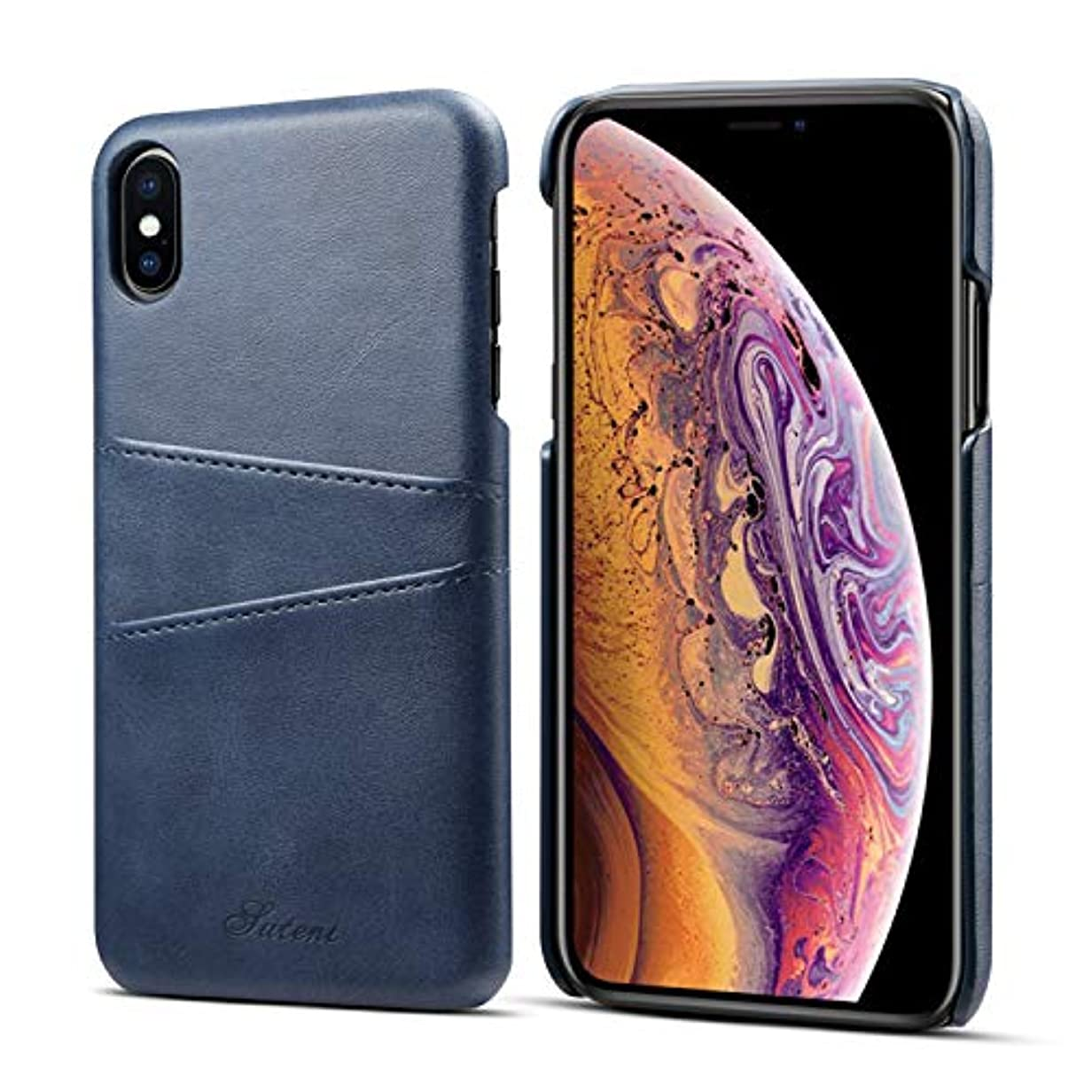 偽物庭園ソビエトiPhone XS Maxのための財布ケース、カード/ IDホルダースロット付きtaStoneプレミアムPUレザー電話ケースカバー6.5インチiPhone XS Maxのための軽量クラシックスタイルスリム保護スクリーンケース...