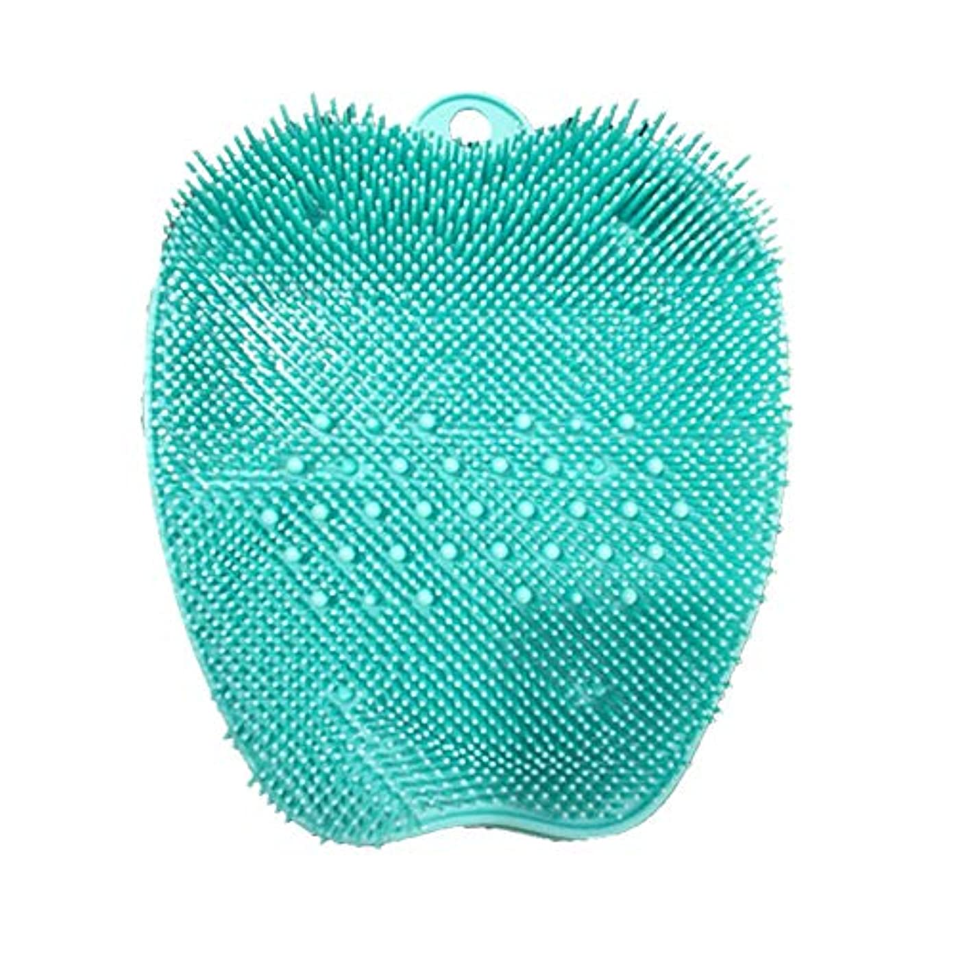 条約枯渇ぴったりsunite 足洗いマット 足洗いブラシ 滑らない吸盤付き ブルー フットケア フットブラシ 角質ケアブラシ お風呂で使える