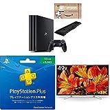 PlayStation 4 Pro ジェット・ブラック 1TB(Amazon.co.jp限定特典付) + ソニー ブラビア 49V型液晶テレビ(KJ-49X8500F) + PlayStation Plus 12ヶ月利用権 セット