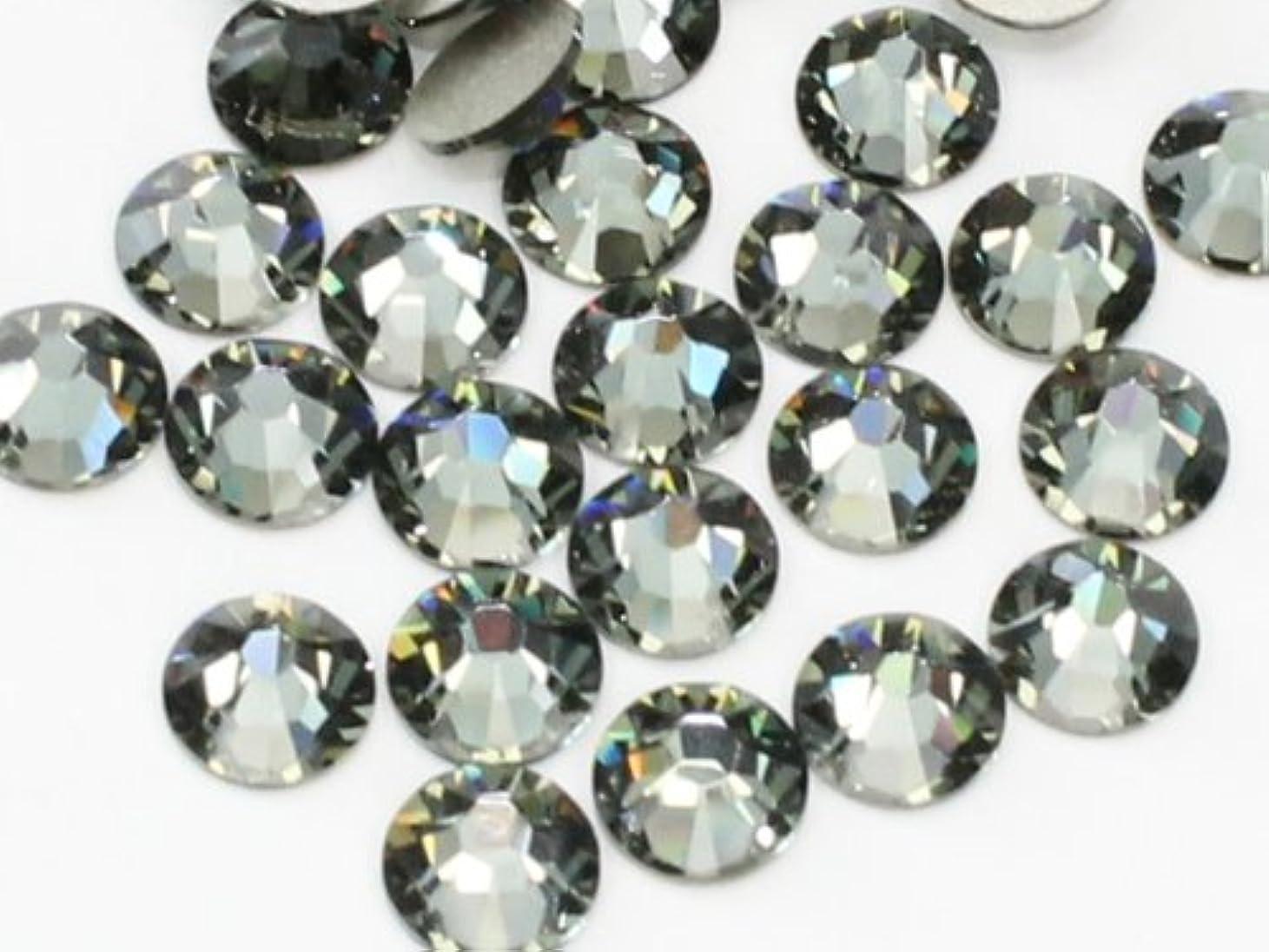 またはる天国2058ブラックダイヤモンドss16(100粒入り)スワロフスキーラインストーン(nohotfix)