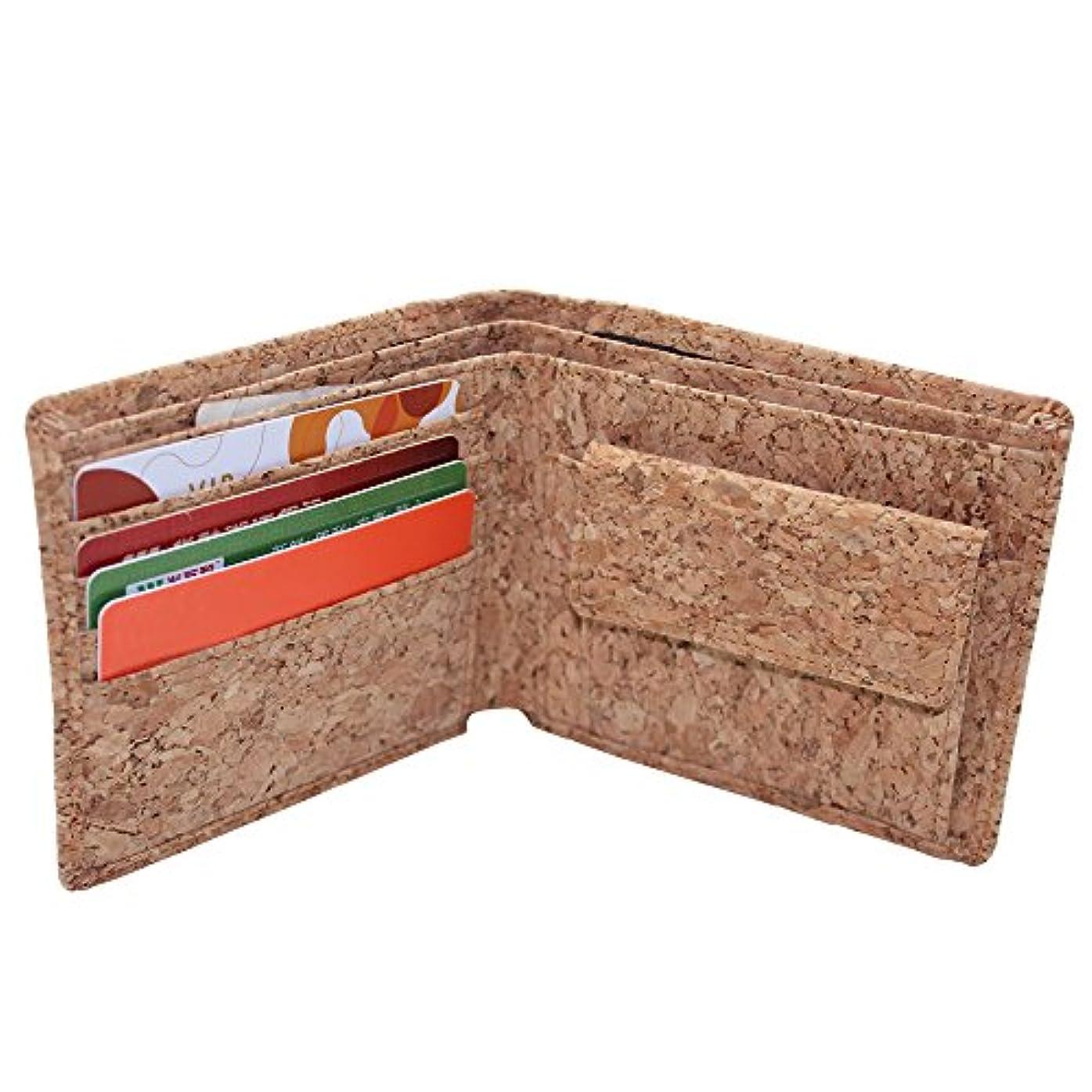 飢えズームスチュワーデスBoshiho二つ折り 財布 メンズ コルク  軽い エコ製品 ビジネス