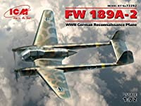 FW 189 A - 2、WWIIドイツreconnaissance平面1 / 72 ICM 72292