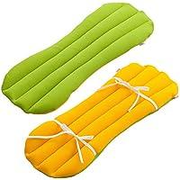 眠り製作所 ここにも枕 腰枕 脚枕 腰痛対策 日本製 リバーシブル (グリーン)