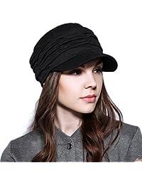 アンミダ(ANMIDA) キャスケット 綿 帽子 uv 春 夏 秋つば付き くしゅッとキャスケット 小顔効果 紫外線対策 上品 レディース メンズ