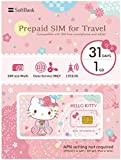 SoftBank Hello Kitty Prepaid SIM for Travel Japan SIM Data 1GB 4G LTE SIM size Multi 31Days