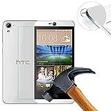 【Lusee】 強化ガラススクリーンプロテクター HTC Desire 828w 5.5 インチ 用 プレミアムスクリーンプロテクター 0.3mm クリアー2.5D
