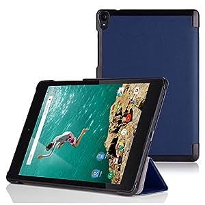 【MOKO】Google Nexus 9 超薄 軽量型ケース Google Nexus 9 8.9 インチ Volantis Flounder Android 5.0 Lollipop tablet by HTC T1用マグネット開閉式 三つ折 高品質PU レザーケース (Indigo インディゴ)