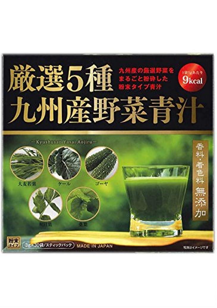 眉をひそめる献身経済厳選5種 九州産野菜青汁 3gx30包