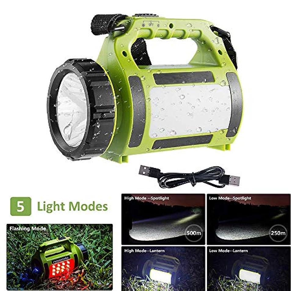 戸口便利ポルティコポータブル充電式LEDトーチ、多機能キャンプライト、LEDサーチライト防水スポットライト、非常ランプ軽量のランタン650lm、アウトドア用ハイキング