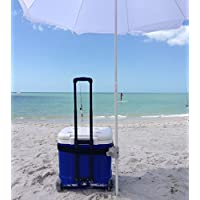 Strap Shade: #1 Recommended Best Beach Umbrella Holder Clip - 15x More Steady & Easy to Use Than Sand Anchors - Universal & Secure Fit with Non-Slip Rubber Surface - Hassle & Damage Free