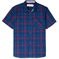 Hammersmith Men's Barrington Short Sleeve Shirt, Navy
