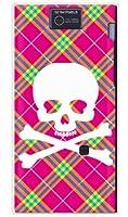 SECOND SKIN [AQUOS PHONE 104SH/SoftBank専用] スマートフォンケース スカルパンク ピンク (クリア) SSH104-PCCL-201-Y218