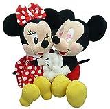 ディズニー kissミッキー&ミニー ぬいぐるみ  座高20cm