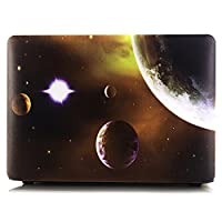 2018 2017 2016 Macbook Pro 15 Case, DIGIC Ultra Thin Hard Plastic Space Galaxy Series Laptop Shell Cover Skin for Macbook Pro 15 inch with Touch Bar A1990 A1707, Orange Planet