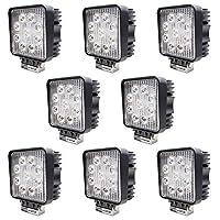 LEDワークライト LED作業灯 27W 防水 防塵 12V 24V 対応 船舶全般/漁船/作業船 【8個セット】