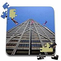 Danita Delimont–イリノイ–シカゴ、シカゴ、Hancock建物、アメリカ国旗–us14bja0026–ジェインズ・ギャラリー–10x 10インチパズル( P。_ 90157_ 2)