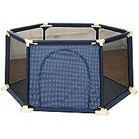 BSNOWF-ベビーサークル Playpensリムーバブル6パネルベビー幼児安全プレイセンターヤード屋内屋外ホームベンチガーデン (色 : 青)