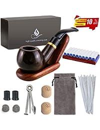 Joyoldelf 喫煙具セット パイプ 木製 スタンド フィルター アクセサリー ギフトケース【父の日プレゼント】