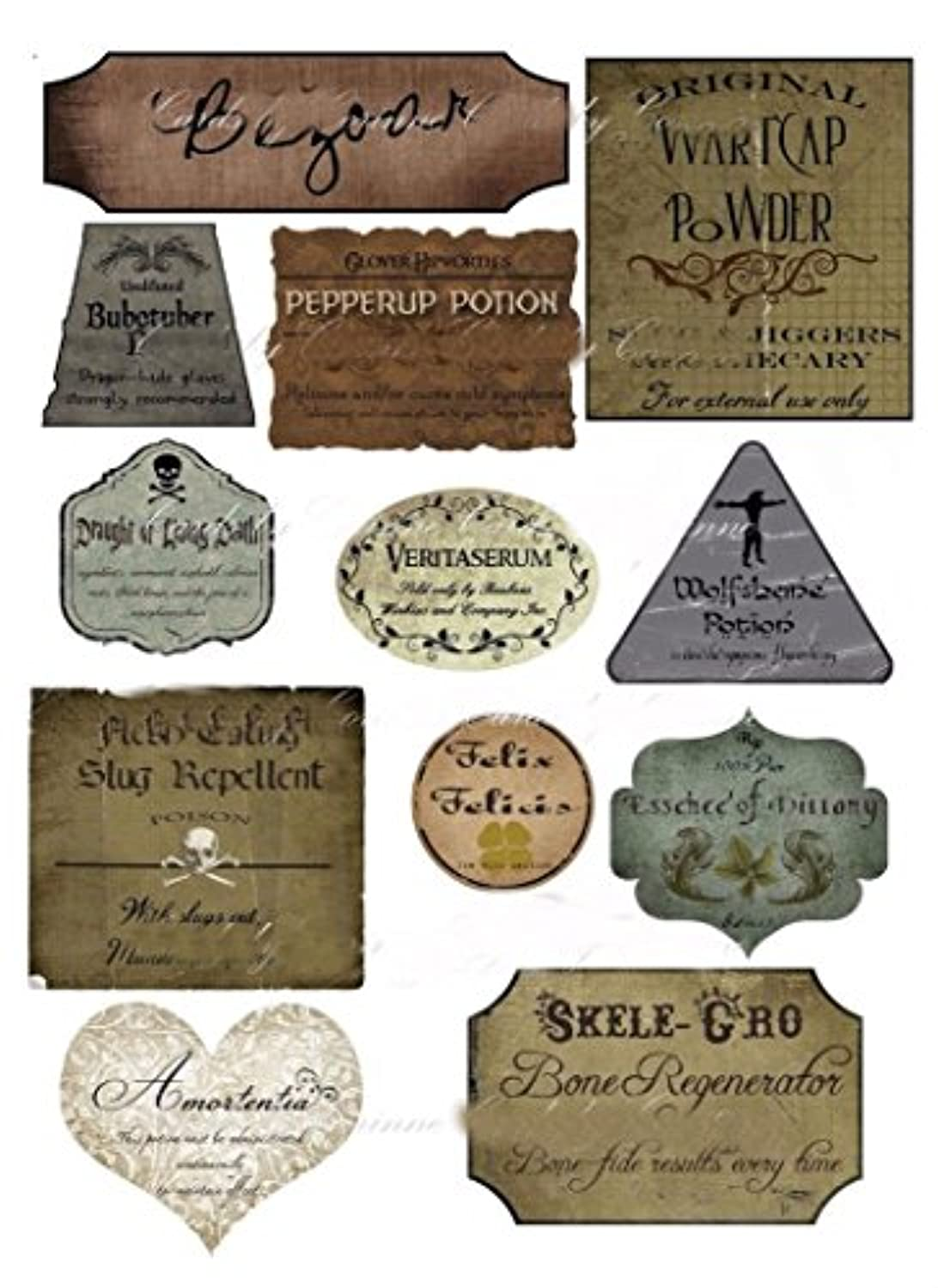 Harry Potter Halloween 12 potion assorted label stickers scrapbooking crafts Must Have