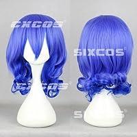 CXCOS WK569 カーニヴァル キイチ 風 コスプレ ネット付 ウィッグ 耐熱 通用 ミディアム 青