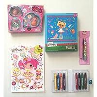 Lalaloopsy Mini Lala Oopsie Little人形妖精、カラー&アクティビティブックW / Oodles ( 80p )のゲーム&パズル、8想像力スティッククレヨン、パズルとCreatology動物ローラースタンプ子バンドル( 5 Items )