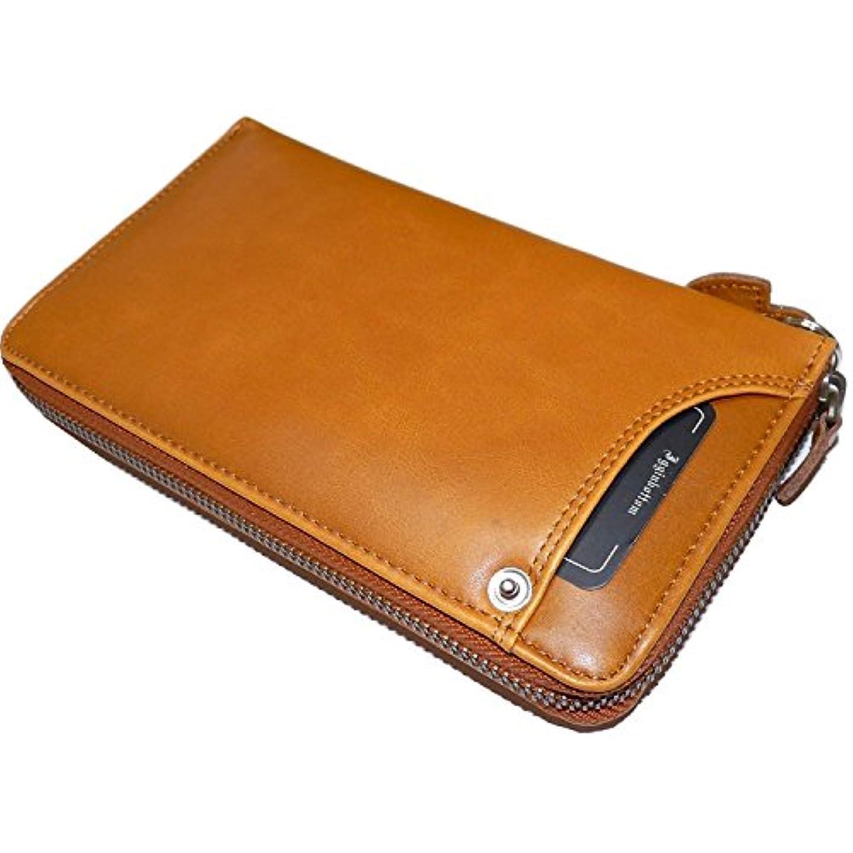 何もない拾う問い合わせウォッシュドレザー 牛革ラウンド財布 [ イギンボトム ] 長財布 メンズ 紳士 誕生日プレゼント 3893