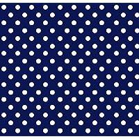 SheetWorld Crib / Toddler Sheet - Primary Polka Dots Navy Woven - Made In USA [並行輸入品]