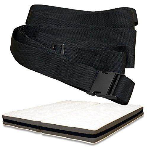 マットレス バンド MB002 2台のマットレスをしっかり固定 ベッドのすきまに (ブラック)