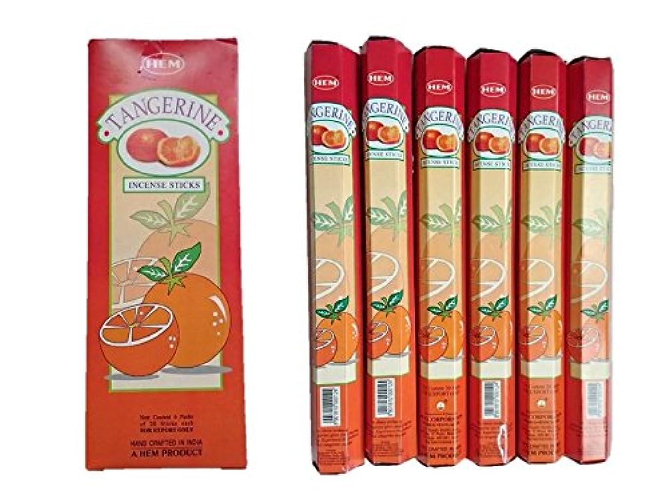 ジャニス少なくとも牛肉HEM(ヘム)/お香スティック/タンジェリン/オレンジ/1ケース(1箱20本×6箱)