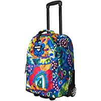 "Bonne ('Bone') Travel Trolley Bag Rolling Wheeled Luggage Travel Cart Soft Suitcase -""Crystal"""