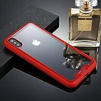 携帯電話ケース iPhone X/XS TPU + PC Dropproof保護バックカバーケースの電話ケース (色 : Red)