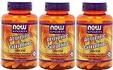 海外直送品Now Foods Arginine & Citrulline, 120caps 500 mg /250 mg(Pack of 3)