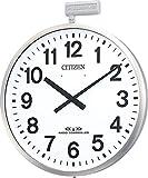 CITIZEN ( シチズン ) 電波 掛け時計 パルウエーブ M611B 大型 屋外 用 防雨 ステンレス シルバー 4MY611-B19