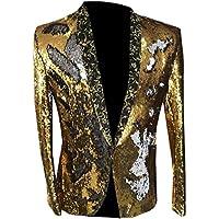 QianQian-AU Men Sequin Vogue Glitter Nightclub Banquet Suit Tuxedo Suits Jacket