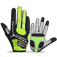 自転車グローブ 屋外防風作業サイクリングサイクリング狩猟登山スポーツスマートフォンタッチスクリーングローブ乗馬用サイクリングスケートランニング多目的屋外保護手袋 (Color : Green, Size : XXL)