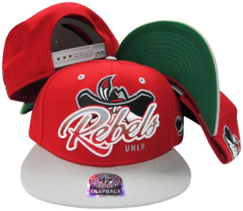 親漂流耐久UNLVネバダ州ラスベガスRunning Rebelsレッド/グレー2トーンプラスチックスナップバック調節可能なプラスチックスナップバック帽子/キャップ