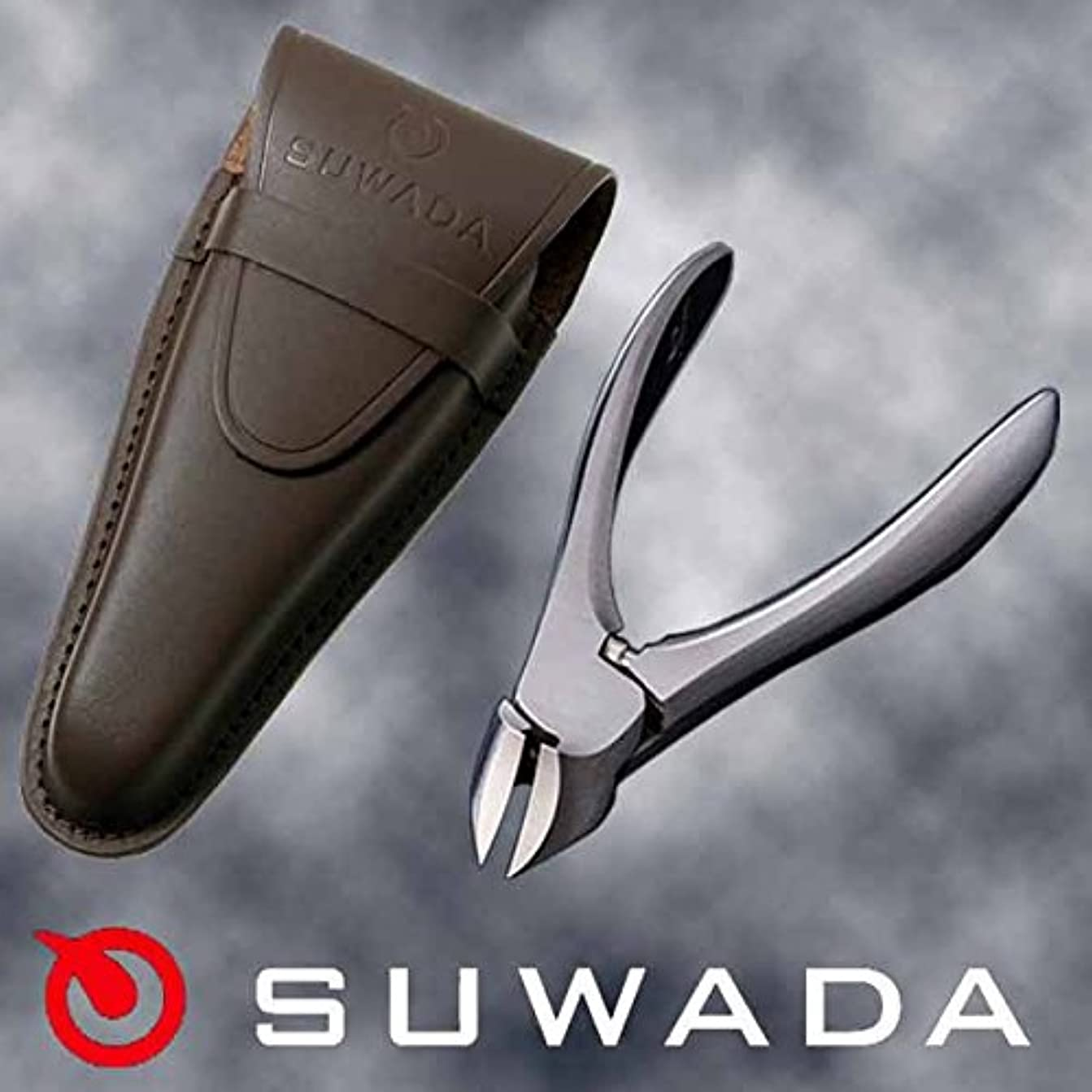 スカリー通りフェデレーションSUWADA爪切りクラシックL&ブラウン(茶)革ケースセット 特注モデル 諏訪田製作所製 スワダの爪切り