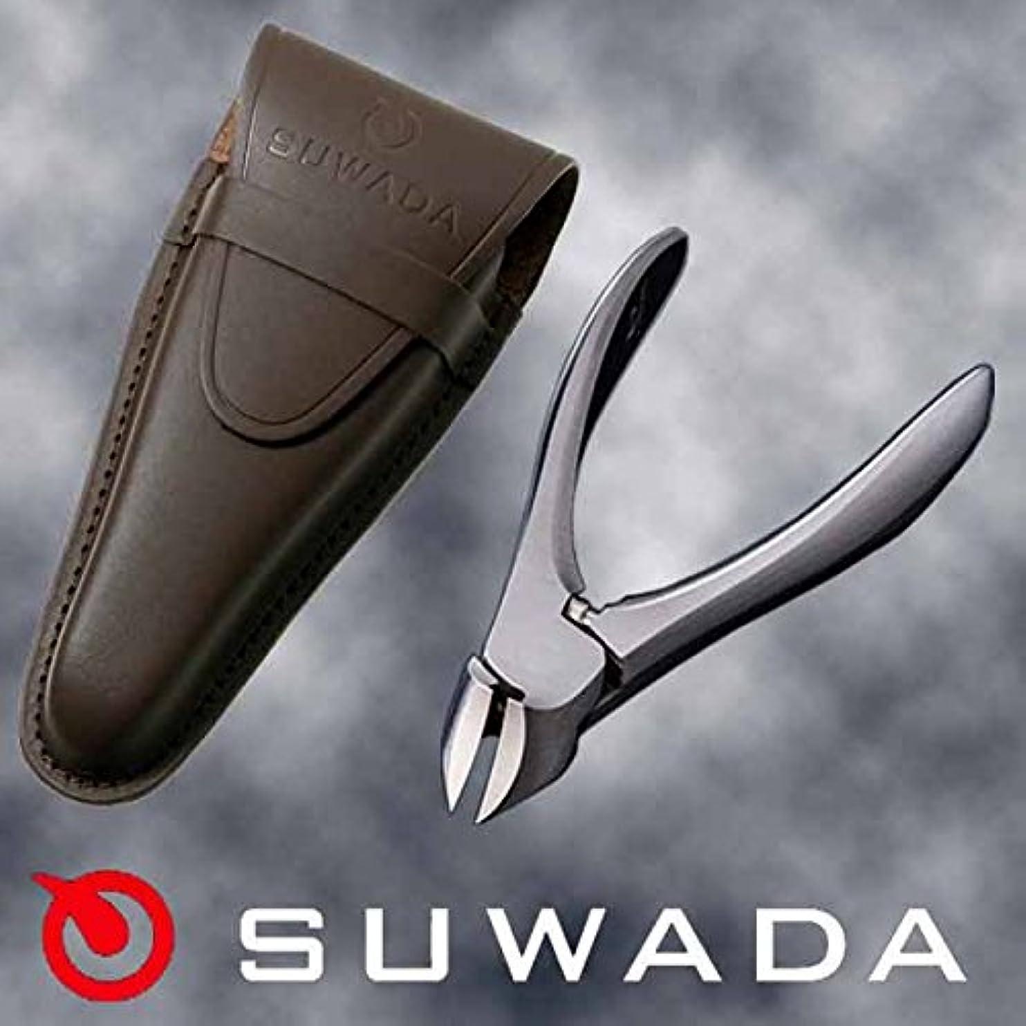 誰がハードリング矢じりSUWADA爪切りクラシックL&ブラウン(茶)革ケースセット 特注モデル 諏訪田製作所製 スワダの爪切り