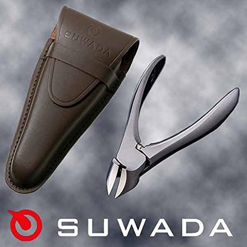 淡い欺失業SUWADA爪切りクラシックL&ブラウン(茶)革ケースセット 特注モデル 諏訪田製作所製 スワダの爪切り